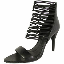 High (3 in. to 4.5 in.) Strappy Solid Heels for Women