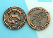 HORSE AND CHEETAH 124 BRIGADE Pakistan Army challenge coin 3 inch