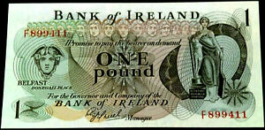 IRELAND (£1) ONE POUNDS BANKNOTES 1977 (PREFIX F) ONEILL-ND- NOTES X1 UNC