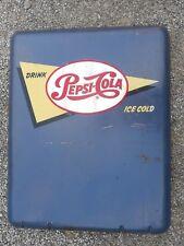 OLD VINTAGE ORIGINAL PAINT PEPSI MACHINE PANEL SODA POP COOLER
