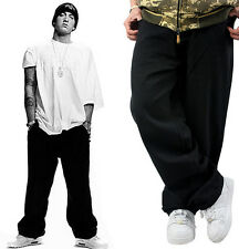 Mens HIPHOP black Mens Street Dance Loose Pants Jeans Casual Skate 28-46