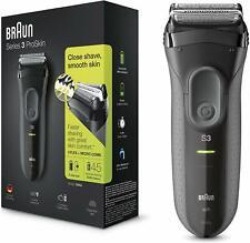 Braun Series 3 ProSkin 3000s Electric Shaver Cordless Electric Razor - Black