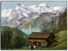 Vierwaldstättersee. Urirotstock. PZ vintage photochromie,  photochromie, vinta