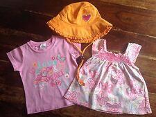 Baby Girl Clothes Size 0 Tops X 2 Osh Kosh B'gosh Target Turtle Dove Sun Hat