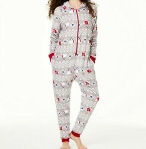 Family Pajamas Women's Pajamas Hooded Polar Bear Size Large