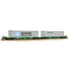 Graham Farish 377-369 FIA Intermodal Bogie Wagons & Maersk Line 45ft Containers
