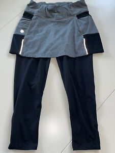 Athleta A-Game 2 in 1 Crop Leggings with Tennis Skirt. Black/Gray. XS. Worn once