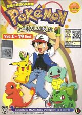 DVD Pokemon Indigo League Complete Episode 1 - 79 End ENGLISH VERSION Anime