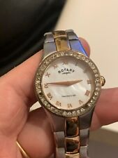 Rotary LB03501/07 Ladies' 2 Tone Silver/Rose Gold Stainless Steel Watch.