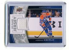 2013-14 UD Game Jersey GJ-JE Jordan Eberle Oilers Jersey jh17