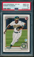 PSA 10 ROBERT PUASON 2020 Bowman 1st Edition Paper A's Rookie Card RC GEM MINT