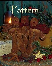 Primitive Gingerbread Ornies Bowl Fillers Paper Pattern #254