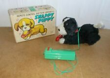 Vintage toy - ALPS Japan - SNAPPY PUPPY remote controlled dog with box - 50s