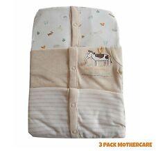 Baby Boys Girls 3 Pack Babygrow Sleepsuit Unisex 100% Cotton TinyB -24/36 NEW!