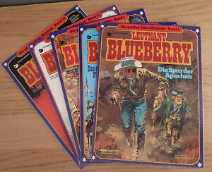 Leutnant Blueberry - Band 1+4+7+11+15 - Verlag: Delta - Softcover