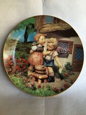 """Mj Hummel Little Companions Collector Plate by Danbury Mint """"Squeaky Clean�"""