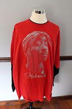 2pac Tupac Makaveli T-Shirt 5XL Red and Black Big and Tall Long Sleeve Hip Hop