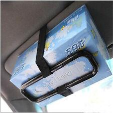 Black Car Sun Visor Tissue Paper Box Holder Seat Back Accessories Clip Bracket