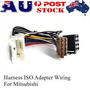 Car Harness ISO Adapter Wiring Cable Connector Plug Lead Loom For Mitsubishi