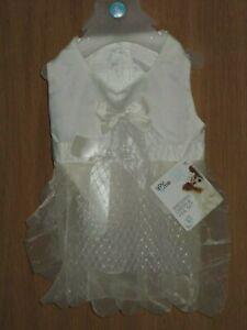 You & Me Small 13 - 15 IN Wedding Dress & Veil Bridal Dog Set