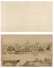 A. L. Otto, République tchèque, Prague Panorama CDV vintage albumen carte de vis