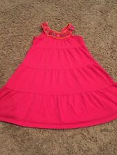 euc Childrens Place JEWEL NECKLINE DRESS Alalea Pink Medium 7 8 m Sleeveless