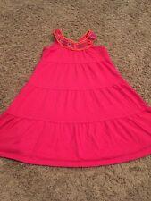euc Childrens Place JEWEL NECKLINE DRESS Alalea Pink Medium 7 8 m Sleeveless