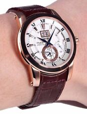 Seiko Premier Kinetic Perpetual Leather Strap Men's Watch SNP096P1