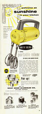 1955 vintage AD WEST BEND Electric Hand Food Mixer  031415