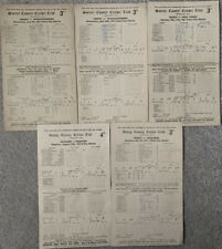 More details for 5 x cricket scorecards from the oval surrey 1951 onwards