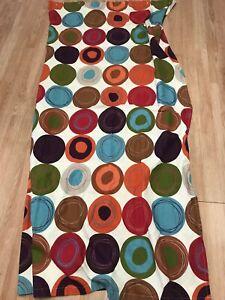 Creative Bath Multicolor Dot Swirl Cotton Shower Curtain 72-inch by 72-inch