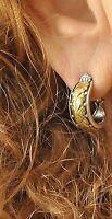 Konstantino J Hoop Earrings Sterling Silver 18K Yellow Gold Hebe New Gorgeous