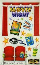 Sandylion MOVIE NIGHT RaRe Maxi Scrapbooking Stickers A58. Retired Design !!