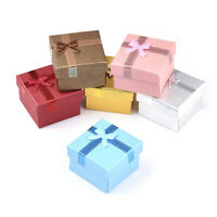 24 Bow Cardboard Mini Jewelry Boxes Necklace Earring Gift Cases Retail Packing