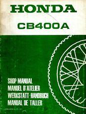 Honda CB400A 1977 Shop Manual