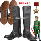 SIZE 45 C WW2 DAILY Soviet field Leather Army GENERAL Boots CALFSKIN1