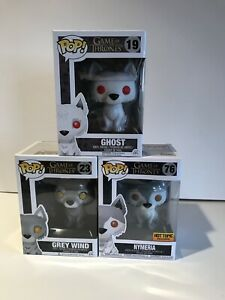 Funko Pop! Game of Thrones Dire Wolves Grey Wind,  Nymeria, and Ghost Bundle