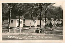Cabins at Lone Star Restaurant East of Uniontown PA US 40 RP Postcard