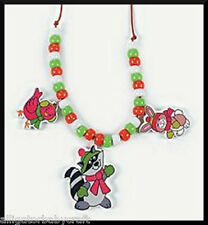 Winter Christmas Animal Necklace Craft Kit Kids ABCraft