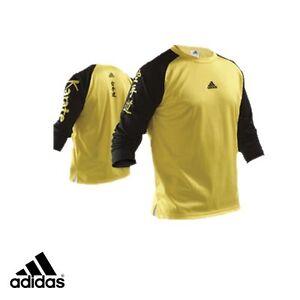 adidas Karate Martial Arts Yellow Polyester Shirt - TS024K-YL