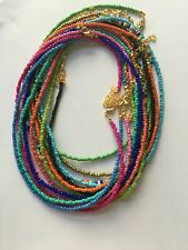 Boho Seeds Beaded Strand Necklace Assorted Colours
