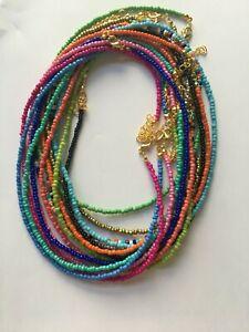 Boho Seeds Beaded Strand Necklace Assorted Colours
