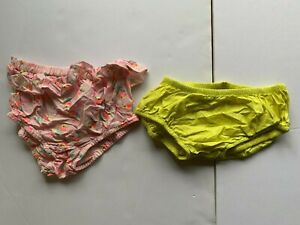 2 pair cotton bloomers. Seed and Gymboree. Yellow and Pink. size 2