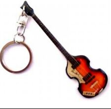 Paul Macartney The Beatles Stainless Steel 10cm Bass  Guitar Key Ring