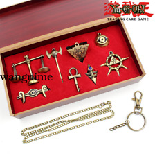 Yu-Gi-Oh! NECKLACE Millenium Puzzle Millennium Items KEYCHAIN GOLDEN 8P+Woodbox