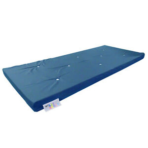 Memory Foam Futon Mattress Roll Out/Fold Up Guest Bed   Royal blue 190cm x 75cm