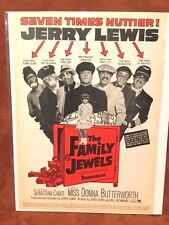 """!965 Jerry Lewis """"The Family Jewels"""" Movie Print Ad"""