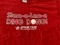 St. Louis Cardinals  - Budweiser - Slam-a-Lam-a Ding Dong T-Shirt Adult size L