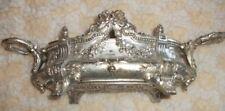 Ancienne jardinière centre de table années 1920-1930 métal argenté vintage