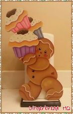 HP Gingerbread  boy with cupcakes Paper Towel Holder, Gingerbread Decor